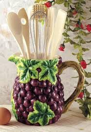 Grapes Wine Kitchen Utensil Tool Set Decor Pitcher 7 Piece By KKM GRAPE