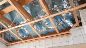 mit rigipsplatten die decke im bad umbauen erneuern teil 1