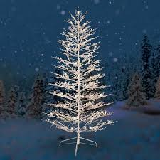 GE Pre Lit 7 White Winterberry Artificial Christmas Tree Dual Color LED