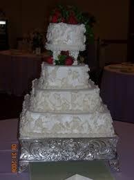 Four Tier Split Tier Wedding Cake