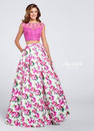 ew117035 dress set lace crop tops and box pleats