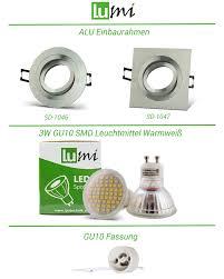 light bulbs led 230v einbau set 3 3w einbaustrahler spot
