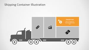 100 Truck Slides Shipping Cargo Container For PowerPoint SlideModel