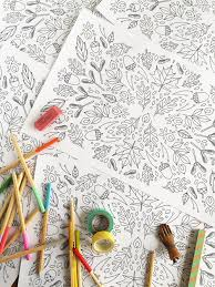 Printable Coloring Thanksgiving Placemats
