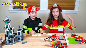 Lego City Fire Trucks And Firefighter Costume Pretend Play, Part 2 ...