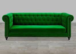 velvet sofa button tufted