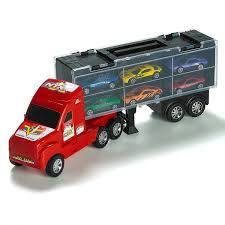 100 Toy Farm Trucks 15 Carrier Truck Car Transporter Includes 6 Metal Cars For