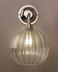 designer lighting contemporary wall light with upton glass shade