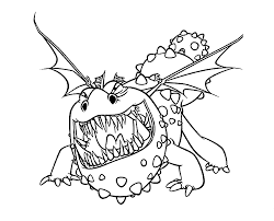 How To Train Your Dragon Coloring Sheets Gronckle