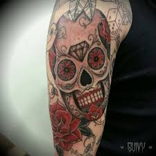 Sugar Skull Tattoo Sleeve