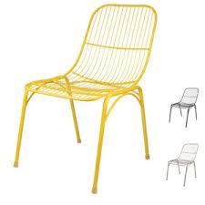 chaise ée 70 chaise de jardin en métal filaire par 2 hugo broste chaises