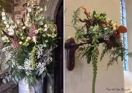 Rustic Milk Churn Design In Church Porch And Wall Mounted Wedding Flower