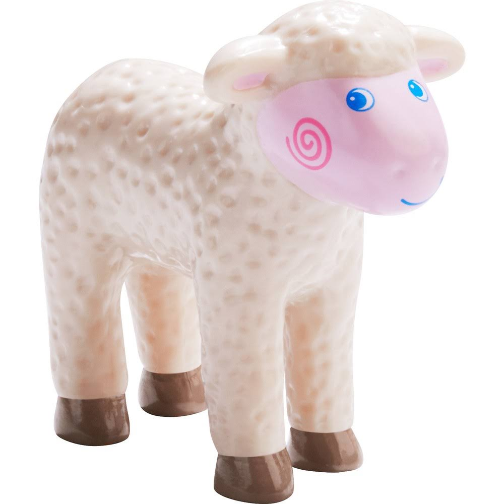 HABA Little Friends Lamb Chunky Plastic Farm Animal Figure - 3.5""