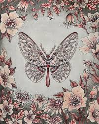 Butterfly From Sommarnatt By Hanna Karlzon Hannakarlzon Davlin Publishing Adultcoloring Coloring BooksColoring