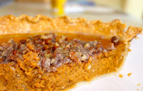 Pumpkin Pie With Pecan Praline Topping by Sunshine Peeking Sunshine Peeking