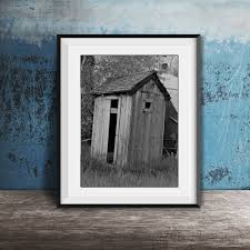 Funny Bathroom Print Modern Farmhouse Decor Wall Art Framed Powder Room Prints Rustic Home