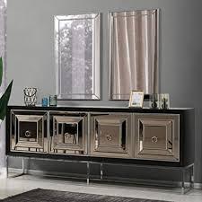 casa padrino luxus sideboard mit 4 verspiegelten türen