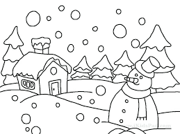 Coloring Pages Free Printable Disney Winter Holiday Color Sheets