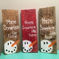 Snowman Pallet Sign Christmas Decor Hand Painted Decorations By RusttooRuffles