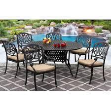 Cast Aluminum Patio Furniture With Sunbrella Cushions by Round Cast Aluminum Patio Dining Table