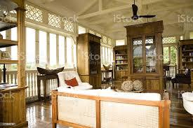 kolonialstil büro und wohnzimmer stockfoto und mehr bilder altertümlich