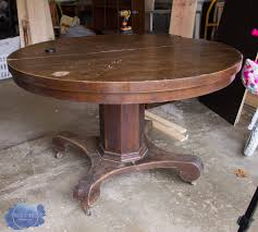 Pedestal Kitchen Table Makeover — Roots & Wings Furniture LLC