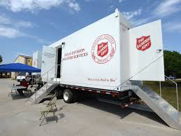 100 Salvation Army Truck Laundry Unit Deployed To Wimberley Texas