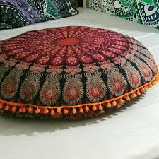 Oversized Throw Pillows For Couch by Favourite Round Floor Pillow Orange Pom Pom Floor Pillows