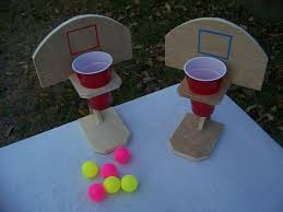 Beer Pong Basketball Handmade Table Top Game Drinko Wooden