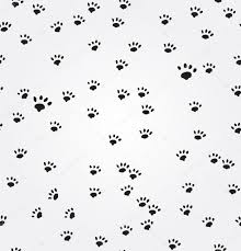 cat paw prints cat paw prints vector seamless background stock vector kiraan