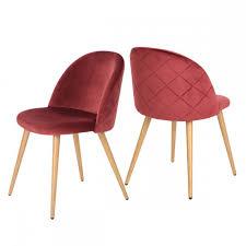 chaise bordeaux chaise vintage velours bordeaux lot de 2 chaise design topkoo