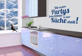 details zu wandtattoo die besten partys finden immer in der küche statt wandspruch deko