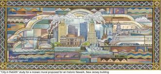 ascalon studios city in rebirth deco mosaic mural mosaic