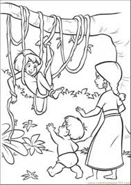 Coloring Pages Jungle Natural World Forest