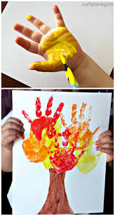 Kids Handprint Fall Tree Craft Fall Craft for Kids Fun for