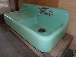 how to install an antique cast iron kitchen sink with drainboard