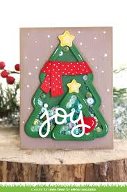 Her Shaker Trees Are Filled With Pretty Sequins And Decorated Pops Of Red From The Heart Cozy Scarf Woodland Critter Huggers Winter Add On