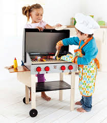 hape gourmet bbq grill and shish kabob wooden kitchen play food