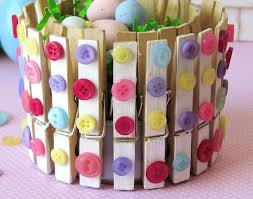 Cute And Easy Springtime Craft For Little Kids Could Also Make A Wreath With The Clothespin CraftsCraft StoresSpring CraftsSpring Home DecorEasy