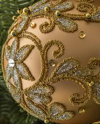 100 Poland Glass Decorated Ball Bauble Set 4 Pieces Balsam Hill