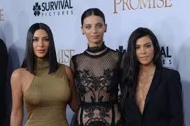 Kourtney Kim Kardashian Dazzle At The Promise Premiere