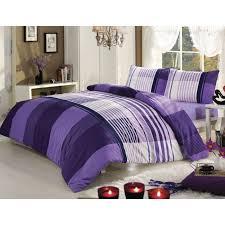 bettwäsche violett weisses karomuster