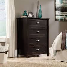 Sauder Shoal Creek Dresser Canada by Sauder 4 Drawer Chest Estate Black Finish 415844 Walmart Canada