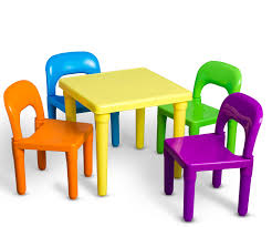 Den Haven Kids Table And Chairs Play Set Colorful Child Toy ...