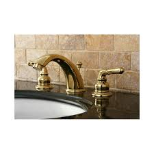 Polished Brass Bathroom Faucets Widespread by Faucet Com Kb964 In Polished Chrome Polished Brass By Kingston