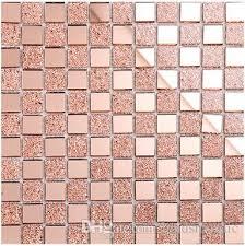 Mirror Tiles 12x12 Cheap by Shiny Glass Mosaic Tiles 12x12 Home Decor Tiles Rose Pink Mirror