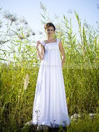 square neck empire waist bridal gown with beaded straps 0113797