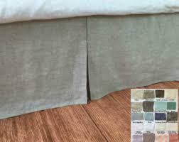 Bed Skirt With Split Corners by Linen Bedskirt Etsy