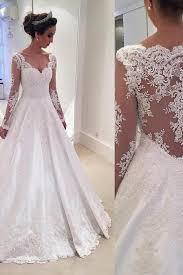 Wedding Dresses Gownlace Long Sleeves Taffeta Dress Princess 2017 Vintage Bridal