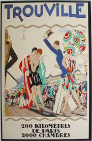 Original French Art Deco Poster For Trouville By Maurice Lauro
